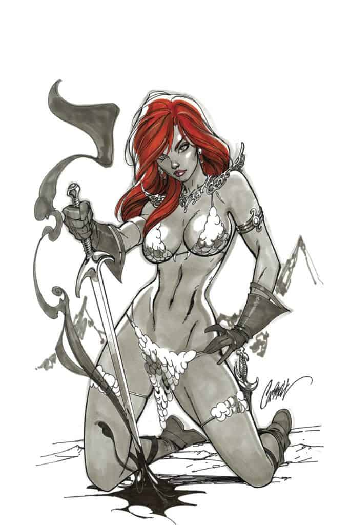 Red Sonja #1 – Cover K – 1 in 50 Virgin Variant by J. Scott Campbell