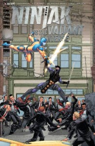 Ninjak vs. the Valiant Universe #1 - Interlocking Variant Cover by Francis Portela