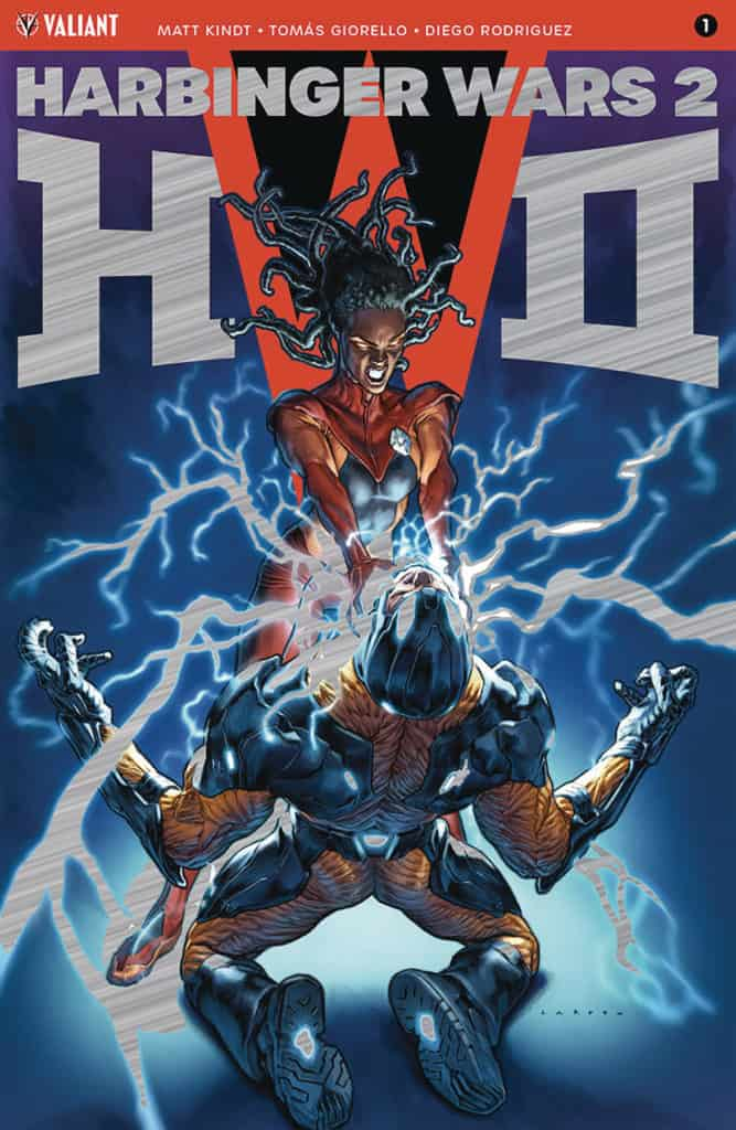 Harbinger Wars 2 #1 – Brushed Metal Variant by Lewis LaRosa