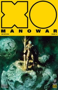 X-O Manowar #14 - Pre-Order Edition Variant by Renato Guedes