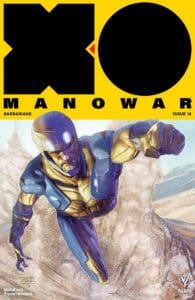 X-O MANOWAR (2017) #18 - X-O Manowar Icon Variant by Renato Guedes
