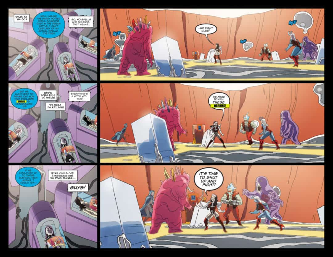 Danger Doll Squad Galactic Gladiators #3 Page 14-15