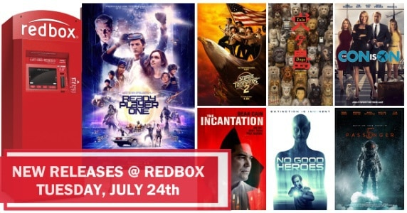 New to Redbox – 7/24/18: Preview & Trailers of This Week's