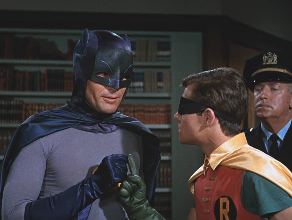 Adam West as Batman – Photo by Shed On The Moon, Public Domain