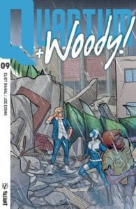 Quantum and Woody! #9 - Interlocking Variant by Joe Eisma
