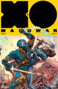 X-O MANOWAR (2017) #21 - Interlocking Variant by Renato Guedes