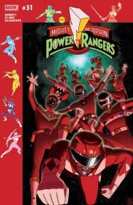 Mighty Morphin Power Rangers #31 Subscription Cover