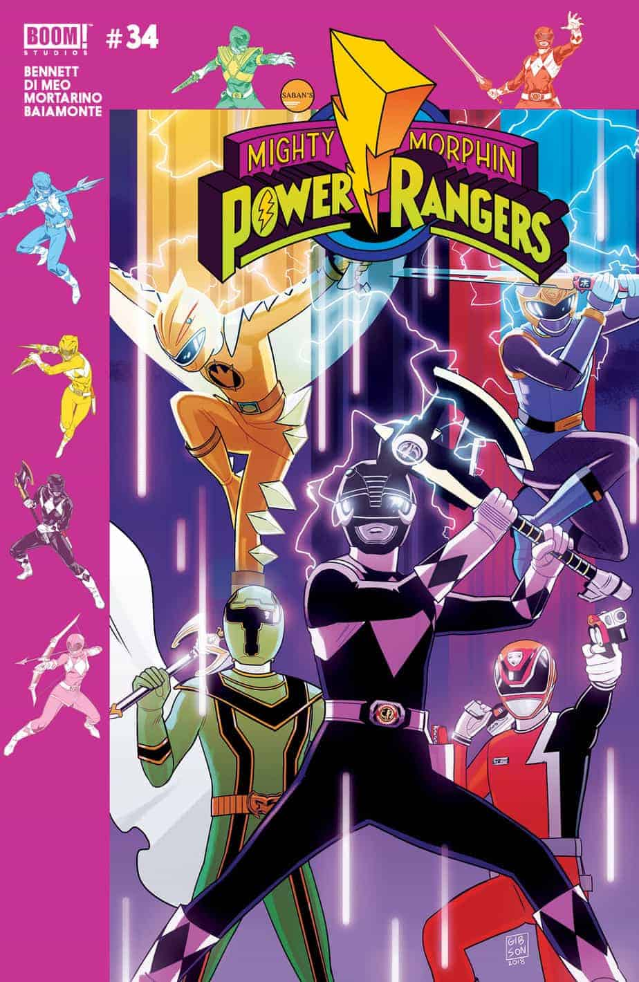 Mighty Morphin Power Rangers #34 Pre-Order Cover