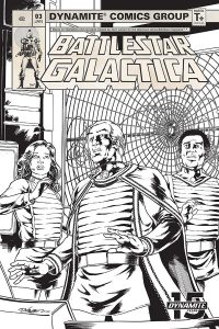 Battlestar Galactica (Classic) #3 - Retailer Incentive B&W Variant