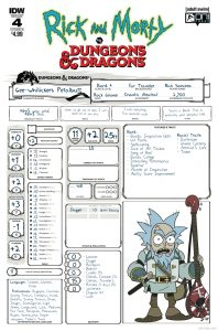 Rick and Morty vs. Dungeons & Dragons #4 - Cover B