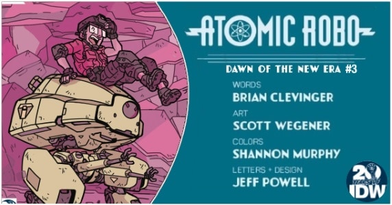 Atomic Robo and the Dawn of a New Era #3 preview feature