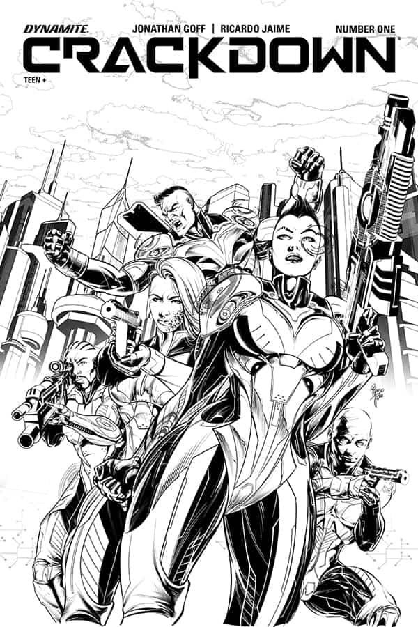 Crackdown #1 - Retailer Incentive B/W Variant