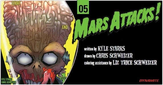 Mars Attacks #5 preview feature