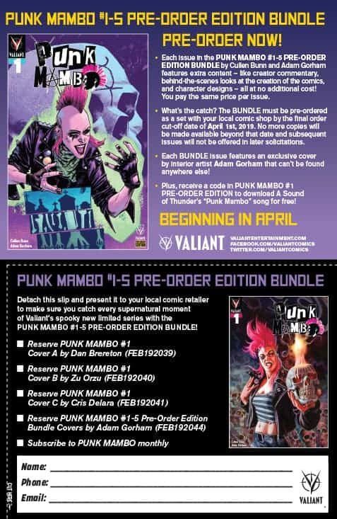 PUNK MAMBO #1-5 PRE-ORDER EDITION BUNDLE Coupon
