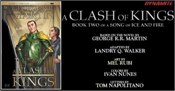 George R. R. Martin's A Clash of Kings #16 preview feature