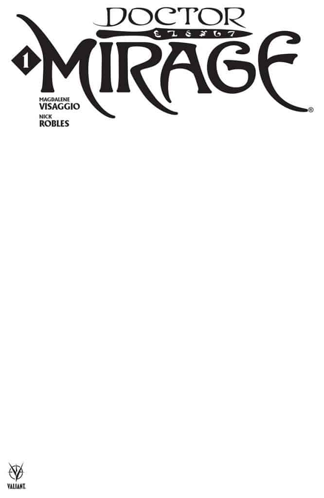Doctor Mirage #1 - Blank Cover