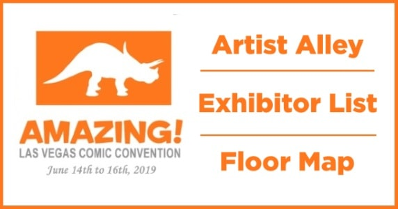 ALVCC 2019 Artist Alley Exhibitor List Floor Map feature
