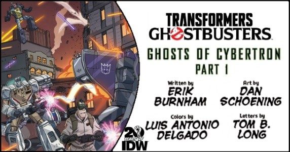 Transformers Ghostbusters #1 preview feature