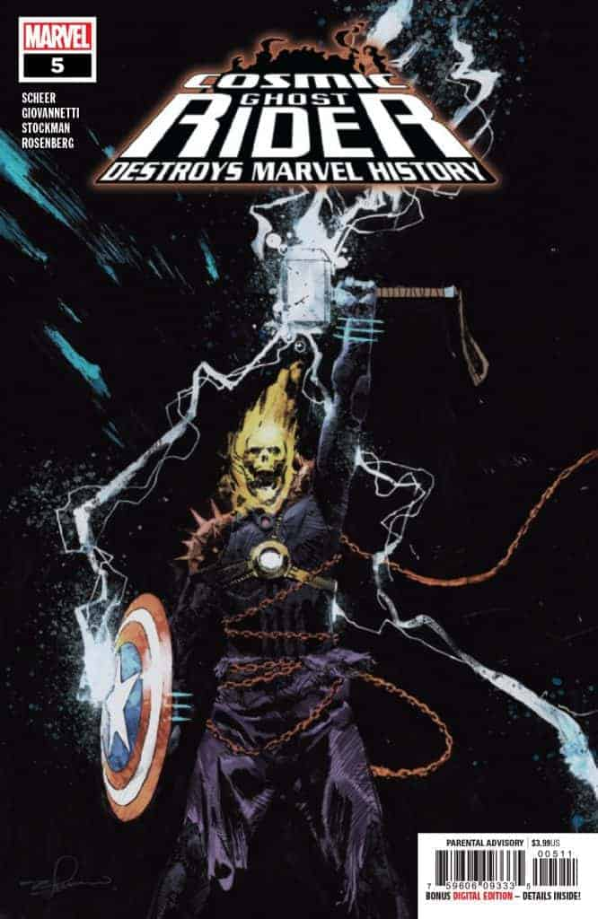 Cosmic Ghost Rider Destroys Marvel History #5 Main Cover