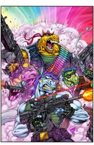 Warcorns: Combat Unicorns for Hire Kickstarter Exclusive Chromium Cover Art by Chris Williams, Jeremy Clark, and Tommy Shelton!