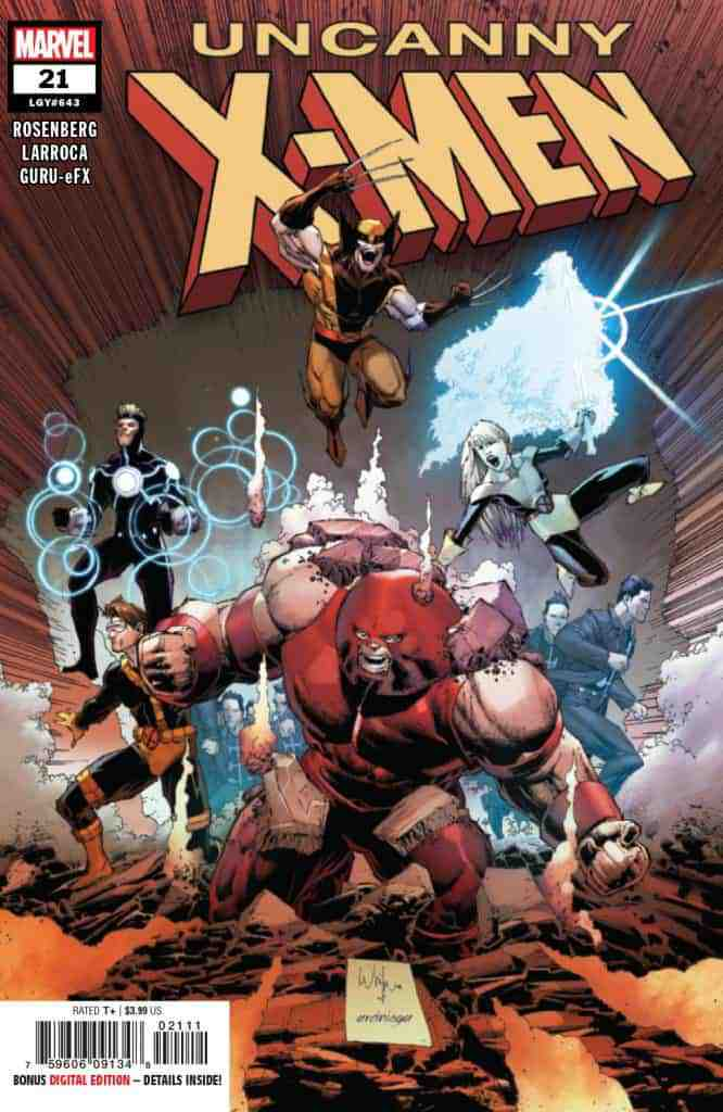 UNCANNY X-MEN #21 - Main Cover by Whilce Portacio