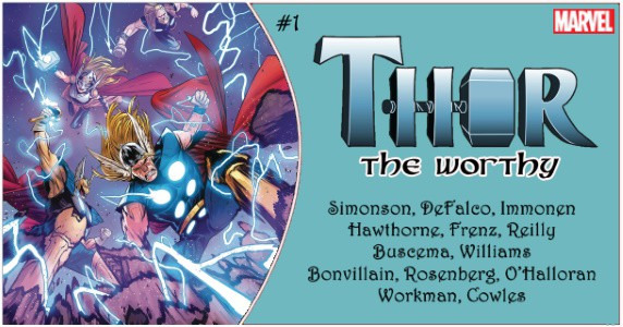 THOR The Worthy #1 preview feature