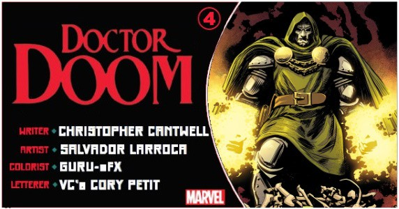 Doctor Doom #4 preview feature