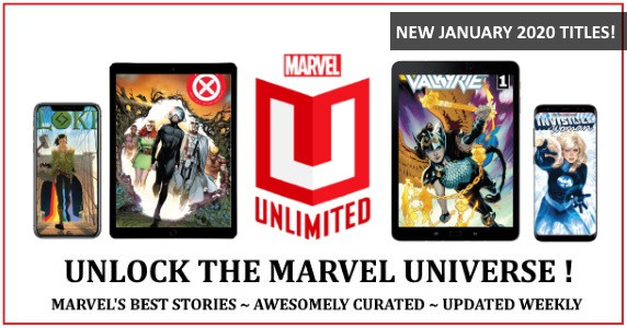 Marvel Unlimited in January 2020