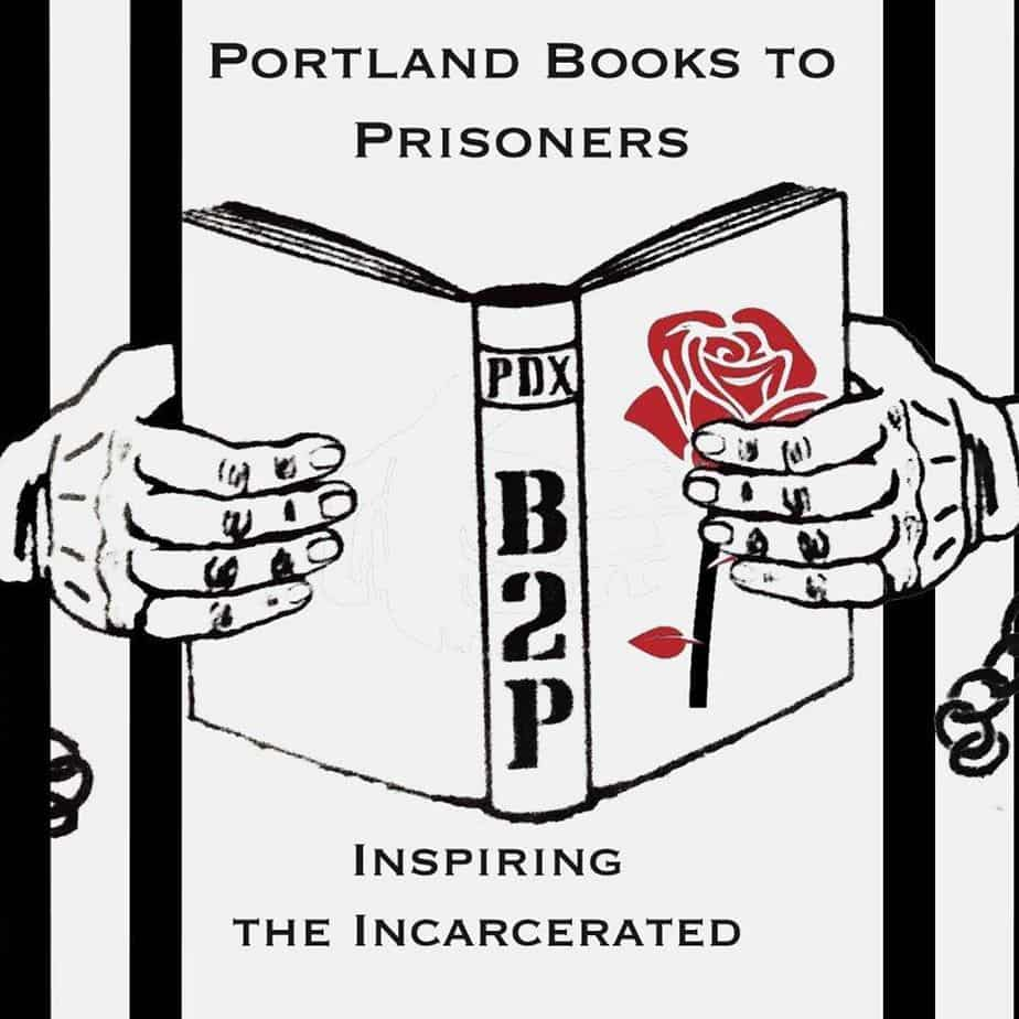 Portland Books to Prisoners logo