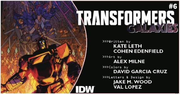 TRANSFORMERS Galaxies #6 preview feature