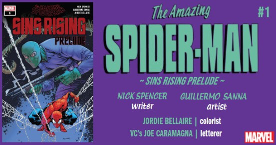 2020 Marvel Comics Ottley Cover Amazing Spider-Man Sins Rising Prelude #1
